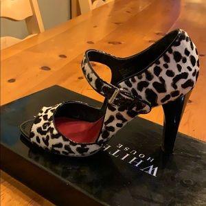 White House Black Market leopard print